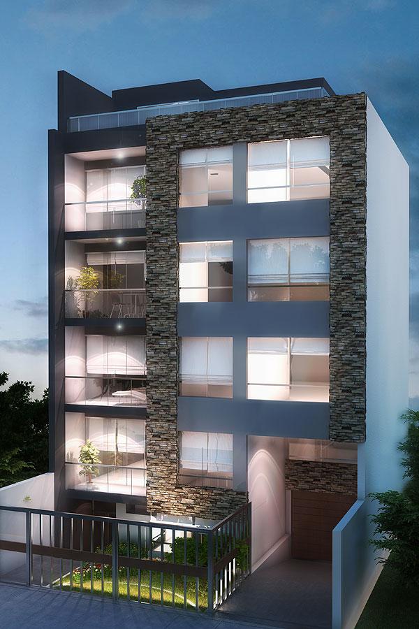 Edificio novara lince for Modelo de fachadas de viviendas